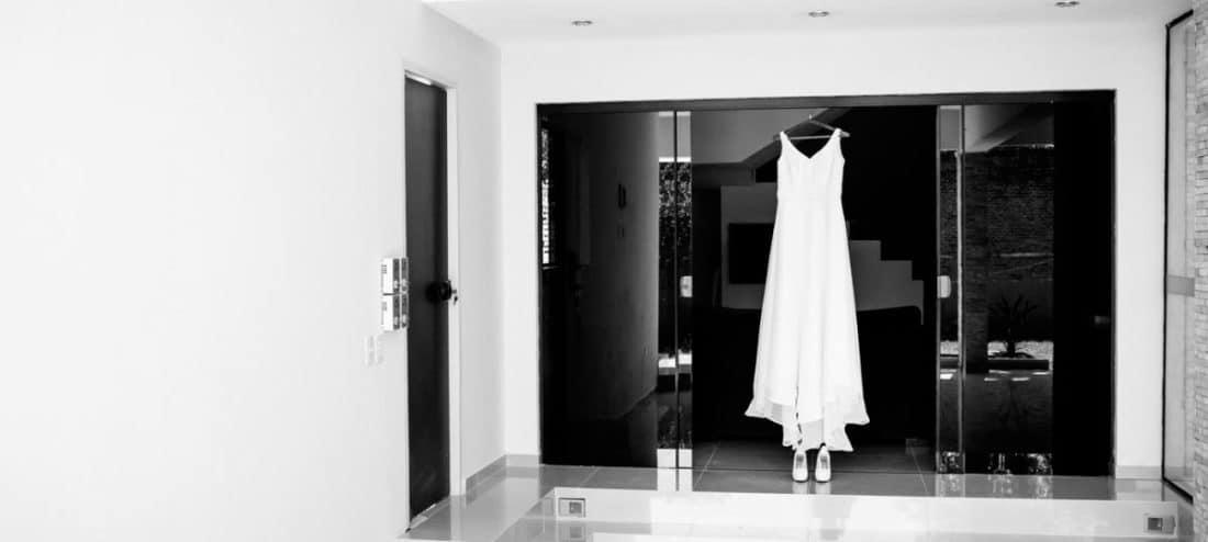 Das war das Brautkleid meiner Frau an unserer Hochzeit